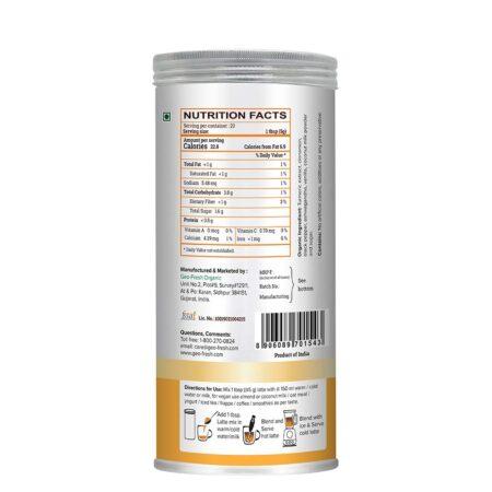 Turmeric Latte Mix - 100G with Vanilla & Ashwagandha2